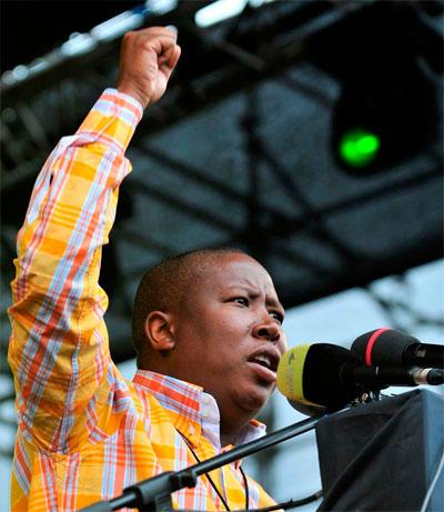 Julius Malema chef du mouvement jeunesse de l'ANC