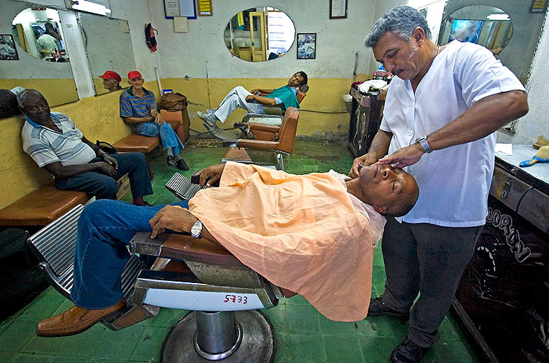 Un barbier à Cuba
