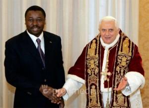 Gnassingbé Junior et le pape Benoit XVI