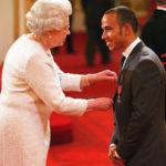 Lewis Hamilton et la Reine d'Angleterre