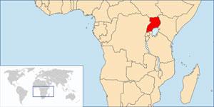 L'Ouganda est un pays d'Afrique de l'Est. Il est aussi considéré comme faisant partie de l'Afrique des Grands Lacs. Il est entouré par la République démocratique du Congo, le Kenya, le Rwanda, le Soudan et la Tanzanie.