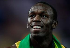 Usain St. Leo Bolt (né le 21 août 1986) est un athlète jamaïcain, spécialiste du sprint, détenteur de trois records du monde : 100 m (9 s 58), 200 m (19 s 19) et 4 x 100 m (37 s 10).
