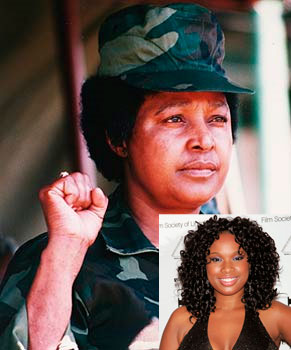 Winne Mandela et Jennifer Hudson