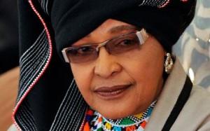 Winnie Madikizela-Mandela, plus connue sous le nom de Winnie Mandela