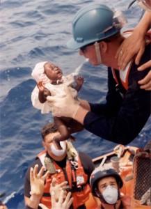 Bébé haitien trouvé sur un bateau