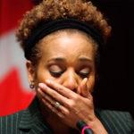 Michaëlle Jean émotive après le séisme haitien survenus en janvier 2010