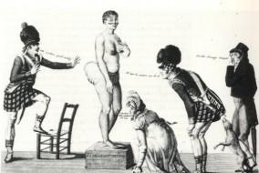 La « Vénus hottentote », de son vrai nom Sawtche, est née en 1789. L'année de la Déclaration des Droits de l'Homme. Elle est fille d'un père khoisan et d'une mère bochiman. Atteinte de stéatopygie (fesses surdimensionnées) et de macronymphie (organes sexuels protubérants), Sawtche devient rapidement un objet de curiosité, mais aussi de convoitise.