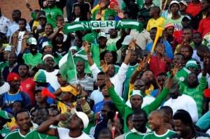 Les supporteurs du Nigeria à Tembisa, le 6 juin 2009