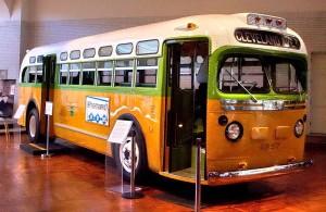 Le bus dans lequel Rosa Parks est montée le 1er décembre 1955 est maintenant exposé au Musée Henry Ford (Dearborn, Michigan)