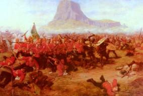 Peinture de la bataille d'Isandhlwana par Charles Edwin Fripp