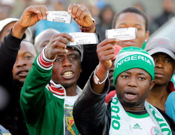 L'entrée du stade à la rencontre amicale entre le Nigéria et la Corée du Nord