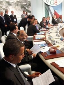 Meles Zanawi au G8
