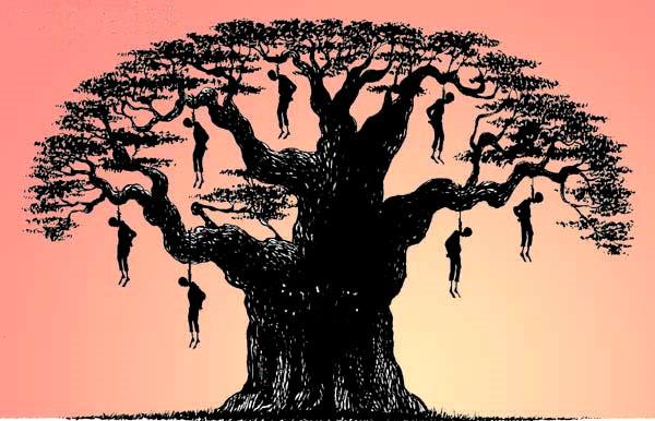 Strange Fruit, chanson qui dénonce les lynchages couramment pratiqués dans le sud des États-Unis