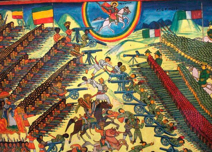 La bataille d'Adoua est livrée près du village d'Adoua, au cœur de la région du Tigré, dans le nord de l'Éthiopie, le 1er mars 1896. Elle oppose les forces de l'Empire éthiopien du Negusse Negest Menelik II à celles du Royaume d'Italie dirigées par le colonel Baratieri.