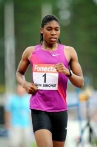 Mokgadi Caster Semenya (née le 7 janvier 1991 à Pietersburg) est une athlète sud-africaine, spécialiste du demi-fond.