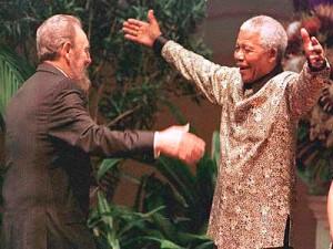 Fidel Castro et Nelson Mandela