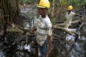 Cinquante ans d'extraction pétrolière dans le delta du Niger a profondément marqué celui-ci. Sans aucune surveillance, les compagnies pétrolières ont amené le delta vers la catastrophe écologique.