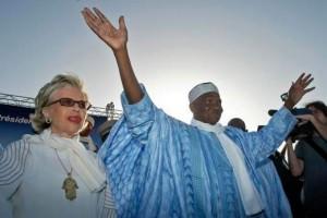 Abdoulaye Wade et sa femme Viviane Vert