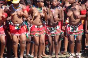 L'umhlanga (=roseau) fait partie des coutumes du Swaziland. Dans le passé, on faisait cette danse pour honorer la reine mère. Les jeunes filles coupaient des roseaux et les lui donnaient pour rebâtir la résidence royale. Mais dernièrement, elle est une occasion pour le roi de se choisir une nouvelle femme parmi les jeunes filles.
