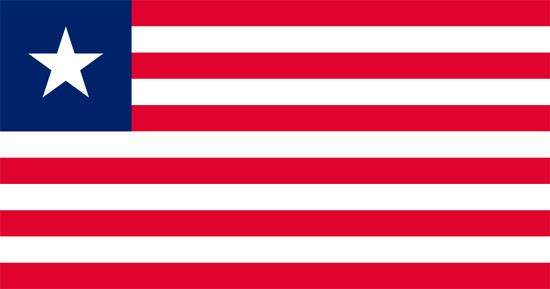 Le nouveau drapeau est adopté par la nouvelle constitution républicaine le 16 juillet 1847, peu de jours avant la déclaration de l'indépendance le 26 juillet et levé officiellement le 27 août suivant. Les proportions 10:19, fixées seulement en 1961, sont les mêmes que celles du drapeau américain. Les bandes furent portées de 13 à 11 pour se rappeler les onze représentants des trois comtés (Montserrado, Grand Bassa et Sinoe) qui signèrent la déclaration d'indépendance. L'étoile remplace la croix pour montrer l'indépendance de la seule République libre d'Afrique.
