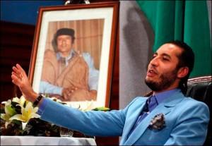 Le troisième fils de Mouammar Kadhafi, Al-Saadi Kadhafi. Ancien footballeur, il est actuellement en couple avec l'actrice et ex-mannequin italienne Vanessa Hessler