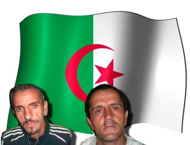 """Les deux chrétiens Salem Felak (D) et Hocine Hocini ont été innocentés de leurs charges """" d'offense à l'Islam """" pour avoir mangé durant le ramadan en Algérie"""