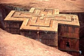 Lalibela est une cité monastique située à 2 630 mètres d'altitude sur le flanc sud-ouest des monts de l'ancienne province du Lasta, dans l'actuelle région Amhara en Éthiopie.