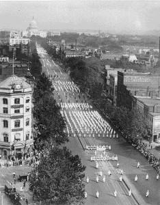 Marche du Ku Klux Klan en 1925