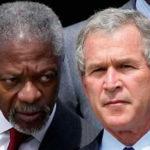 Kofi Annan et George Bush