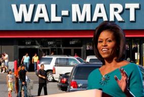 La première dame Michelle Obama a salué le plan de cinq ans de Walmart à fournir aux consommaeurs de meilleurs choix alimentaires