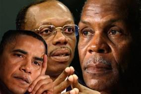 Sur la politique étrangère de l'administration Obama, Glover a dit: «Je pense que l'administration Obama a suivi la même livre, presque mot pour mot, que l'administration Bush. » Depuis bien des années, Dany Glover tente de produire son film Toussaint, qui évoque la vie de l'Haïtien Toussaint Louverture.