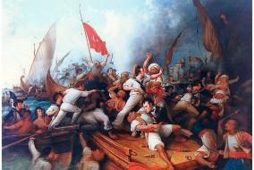 Le président américain Thomas Jefferson envoie des navires de l'US Navy qui bombardent en autre les villes de Tripoli et d'Alger et renégocie le traité en 1805.