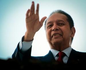 Jean-Claude Duvalier, tenu responsable par des organisations internationales de défense des droits de l'homme de la mort de milliers d'opposants sous sa présidence (1971-1986)