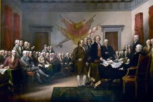 L'idée centrale du texte de la Déclaration de l'Indépendance est la liberté. Il ne s'agit plus des libertés collectives des époques précédentes, mais de libertés individuelles qui sont proclamées haut et fort. La Déclaration est donc un texte universel, qui pose des droits : « Tous les Hommes sont créés égaux. » Le texte a aussi ses limites, compréhensibles dans le contexte du XVIIIe siècle : si l'égalité est proclamée, elle n'est pas appliquée dans les faits, car l'esclavage n'est pas aboli. Effectivement l'auteur Thomas Jefferson était également un planteur qui possédait des esclaves.