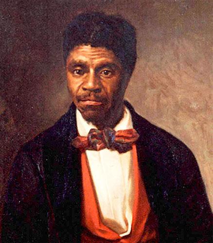 Dred Scott fut un esclave afro-américain né en 1795 en Virginie et mort le 17 septembre 1858. À la mort de son propriétaire Blanc, Dred Scott et son épouse devienne la propriété de la veuve du défunt qui leur refuse la liberté malgré l'interdiction de l'esclavage dans l'Illinois où ils habitent à cette époque. Dred Scott intente une action en justice contre leur maîtresse. Le jugement dure onze ans. En 1857, après plusieurs rebondissements, la Cour suprême des États-Unis refuse leur liberté à Dred et Harriet Scott. La cour prend fermement position en faveur de l'esclavage, déclarant, qu'un Noir, même libre, ne peut être citoyen des États-Unis. Les esclaves étaient une propriété, et les maîtres avaient la garantie du droit de propriété dans le cadre du cinquième amendement.