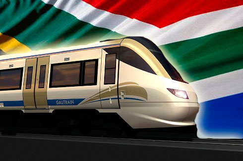 À l'ouverture des travaux en 2006, le Gautrain est considéré comme le plus grand chantier ferroviaire d'Afrique