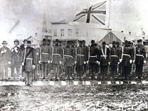 Le Victoria Pioneer Rifle Corps (corps des sapeurs-carabiniers de Victoria)