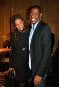 Tamara Thermitus avocate, première femme Noire à ce voir décerrner le Mérite du Barreau en 2011 et Helmer Joseph designer, et pionnier de la Haute Couture canadienne