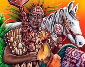 Royauté et phénomènes météorologiques sont également associés dans la mythologie yoruba d'après laquelle le grand roi guerrier Shango devint le fleuve Niger.