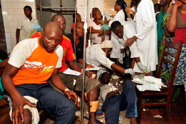 La morgue de Brazzaville a accueilli 136 corps hier après-midi. Même dans les maisons, personne n'était à l'abri