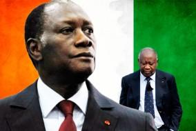Laurent Gbagbo, investi le 4 décembre 2010, déclare : « La souveraineté de la Côte d'Ivoire, c'est elle que je suis chargé de défendre et elle je ne la négocie pas. » et nomme Gilbert Aké Premier ministre. Alasanne Ouattara ne s'en laisse pas imposer, il prête serment peu de temps après en déclarant : « Je voudrais vous dire que la Côte d'Ivoire est maintenant en de bonnes mains ». Il reconduit Guillaume Soro comme Premier ministre. Dès le début 2011, la violence avait sombré le pays dans une guerre civile inévitable.