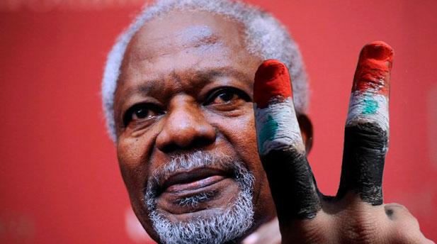 Plusieurs personnes nommait le mandat de Koffi Annan : Mission Impossible
