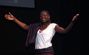 La lauréate de Miss Burkina Canada 2012 Jeannette Yaméogo