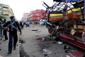 L'Explosion du minibus le 18 novembre 2012 à Nairobi a été attribuée au groupe Al-Shabbaab. PHOTO AP