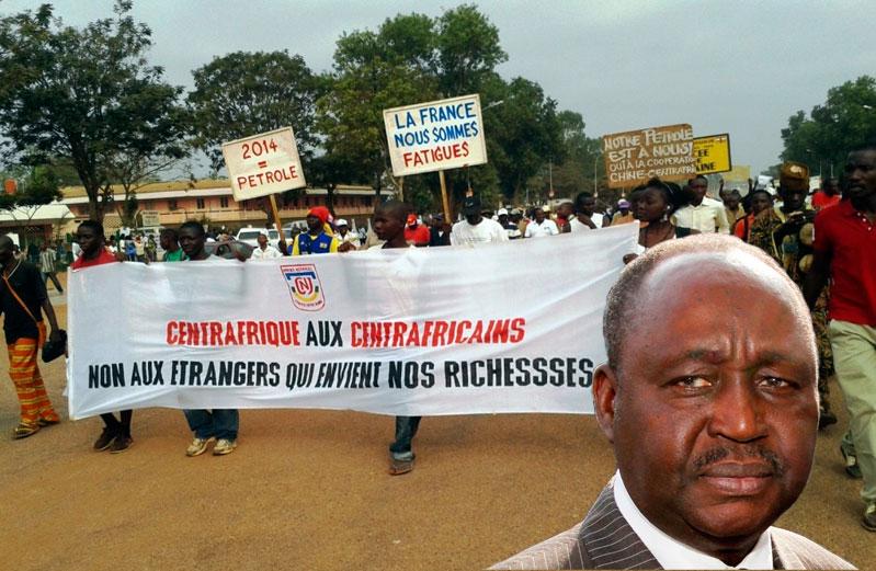 Manifestation pour dénoncer le regain de violences le 26 décembre à Bangui