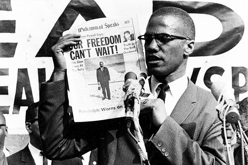 Laquelle de ces pensées ne provient PAS de Malcolm X?