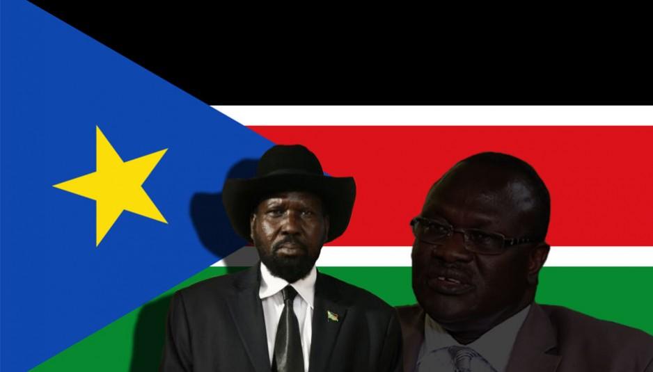 Le 14 juillet 2011, le Soudan du Sud est officiellement admis comme 193e membre au sein de l'Organisation des Nations unies sans vote ni objection de ses membres. Sur la photo Salva Kiir (gauche) et Riek Machar.