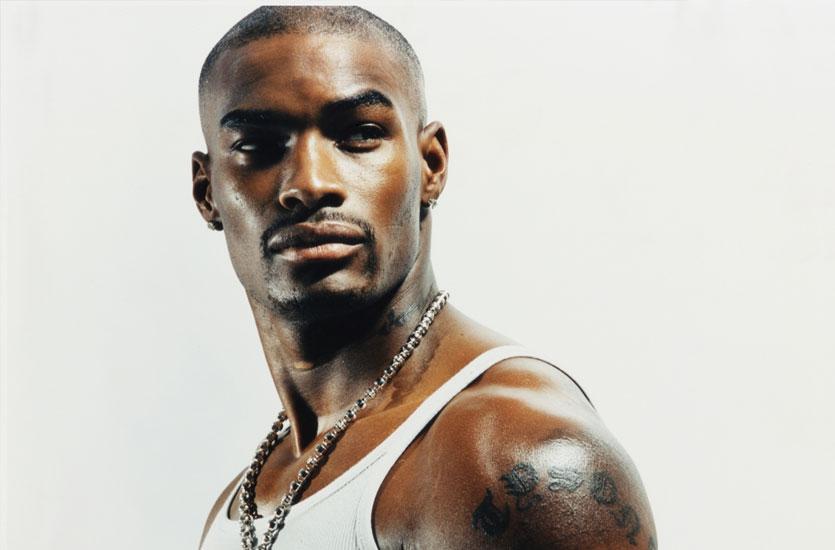 Tyson BeckFord est le premier Noir à être la figure de cette marque de américaine de vêtements en 1994.