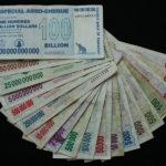 Les dollars zimbabwéens. En avril 2009, le gouvernement décide d'abandonner pour au moins un an le dollar zimbabwéen qui n'a plus de valeur  au profit du Rand sud-africain et du dollar américain.