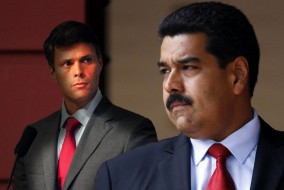 Leopoldo López (g) a été comme 400 de ses compatriotes vénézuéliens empêchés de prendre part aux élections de novembre 2008. Nicolas Maduro, juif séfarade par son père, remporte l'élection présidentielle du 14 avri 2013